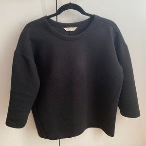 EVERLANE Scuba sweatshirt (S) in Black